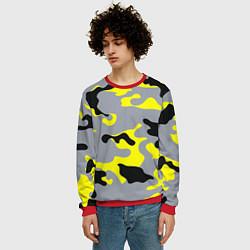 Свитшот мужской Yellow & Grey Camouflage цвета 3D-красный — фото 2