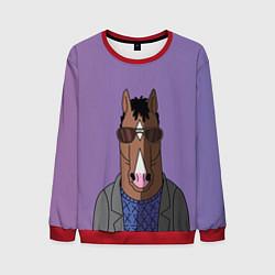 Свитшот мужской Конь БоДжек цвета 3D-красный — фото 1