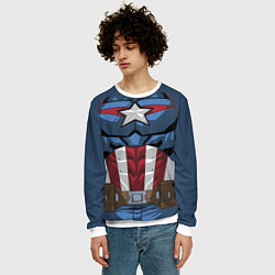Свитшот мужской Captain America Costume цвета 3D-белый — фото 2