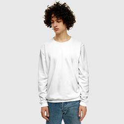 Свитшот мужской Без дизайна цвета 3D-белый — фото 2