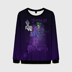 Свитшот мужской Joker and playing cards цвета 3D-черный — фото 1
