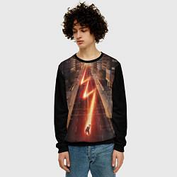 Свитшот мужской The Flash цвета 3D-черный — фото 2