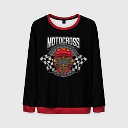 Свитшот мужской Motocross Champion Z цвета 3D-красный — фото 1