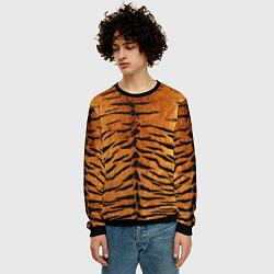 Свитшот мужской Шкура Тигра цвета 3D-черный — фото 2