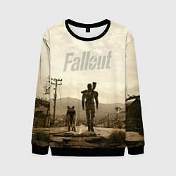 Свитшот мужской Fallout City цвета 3D-черный — фото 1
