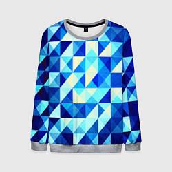 Мужской свитшот Синяя геометрия
