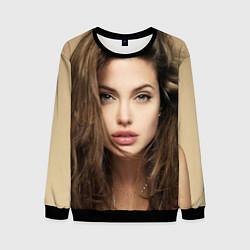 Свитшот мужской Анжелина Джоли цвета 3D-черный — фото 1