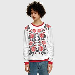 Свитшот мужской Вышивка 28 цвета 3D-красный — фото 2