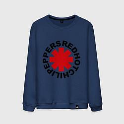 Свитшот хлопковый мужской Red Hot Chili Peppers цвета тёмно-синий — фото 1