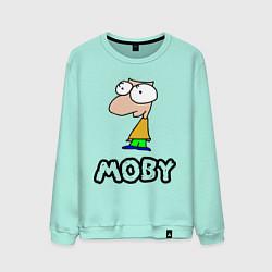 Свитшот хлопковый мужской Moby цвета мятный — фото 1