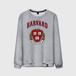 Свитшот хлопковый мужской Harvard university цвета меланж — фото 1