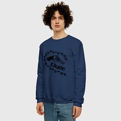 Свитшот хлопковый мужской Clyde цвета тёмно-синий — фото 2