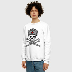 Свитшот хлопковый мужской Jackass (Чудаки) СССР цвета белый — фото 2