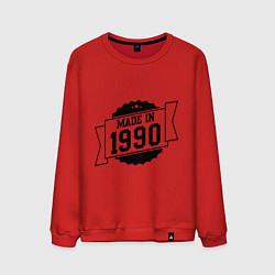 Свитшот хлопковый мужской Made in 1990 цвета красный — фото 1