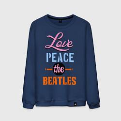 Мужской свитшот Love peace the Beatles