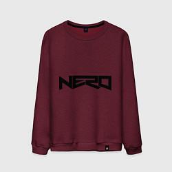 Свитшот хлопковый мужской Nero цвета меланж-бордовый — фото 1