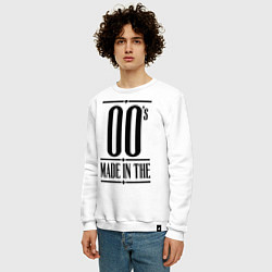 Свитшот хлопковый мужской Made in the 00s цвета белый — фото 2
