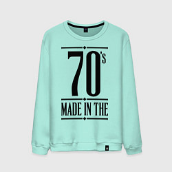 Свитшот хлопковый мужской Made in the 70s цвета мятный — фото 1
