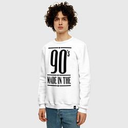 Свитшот хлопковый мужской Made in the 90s цвета белый — фото 2