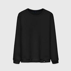 Свитшот хлопковый мужской Без дизайна цвета черный — фото 1