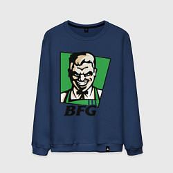 Свитшот хлопковый мужской BFG цвета тёмно-синий — фото 1