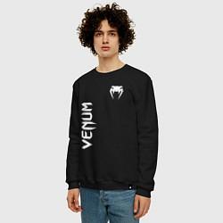 Свитшот хлопковый мужской VENUM цвета черный — фото 2