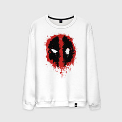 Свитшот хлопковый мужской Deadpool logo цвета белый — фото 1