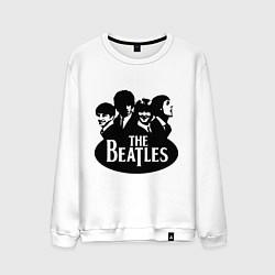 Свитшот хлопковый мужской The Beatles Band цвета белый — фото 1