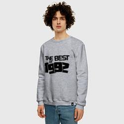 Свитшот хлопковый мужской The best of 1992 цвета меланж — фото 2