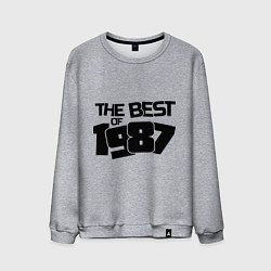 Свитшот хлопковый мужской The best of 1987 цвета меланж — фото 1