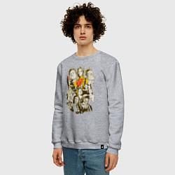 Свитшот хлопковый мужской Герои Тарантино цвета меланж — фото 2