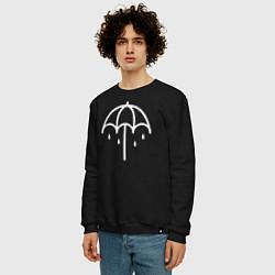 Свитшот хлопковый мужской BMTH Symbol цвета черный — фото 2