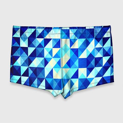 Мужские плавки Синяя геометрия / 3D – фото 2