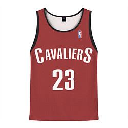 Майка-безрукавка мужская Cavaliers Cleveland 23: Red цвета 3D-черный — фото 1