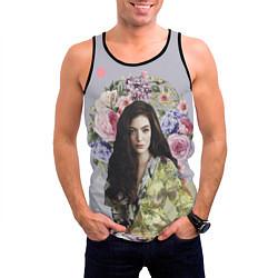 Майка-безрукавка мужская Lorde Floral цвета 3D-черный — фото 2