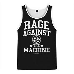 Майка-безрукавка мужская Rage Against the Machine цвета 3D-белый — фото 1