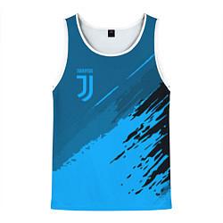 Майка-безрукавка мужская FC Juventus: Blue Original цвета 3D-белый — фото 1