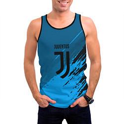 Майка-безрукавка мужская FC Juventus: Abstract style цвета 3D-черный — фото 2