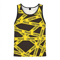 Майка-безрукавка мужская Police Caution цвета 3D-черный — фото 1