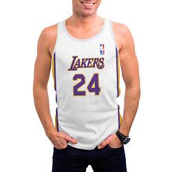 Майка-безрукавка мужская Kobe Bryant 24 Автограф цвета 3D-белый — фото 2