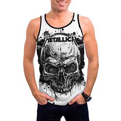 Майка-безрукавка мужская Metallica цвета 3D-черный — фото 2