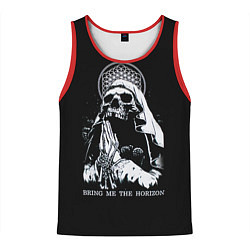 Майка-безрукавка мужская BMTH: Skull Pray цвета 3D-красный — фото 1
