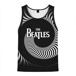 Майка-безрукавка мужская The Beatles: Stereo Type цвета 3D-черный — фото 1
