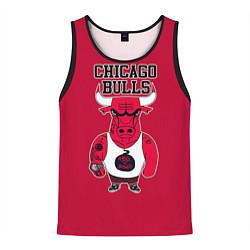 Мужская 3D-майка без рукавов с принтом Chicago bulls, цвет: 3D-черный, артикул: 10081365804123 — фото 1
