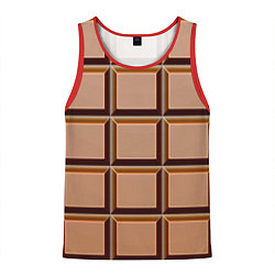 Мужская майка без рукавов Шоколад