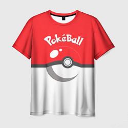 Мужская 3D-футболка с принтом Покеболл, цвет: 3D, артикул: 10102242803301 — фото 1