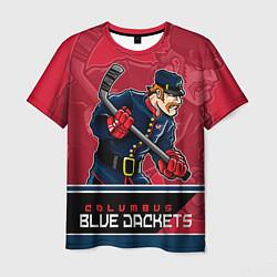 Мужская 3D-футболка с принтом Columbus Blue Jackets, цвет: 3D, артикул: 10106982203301 — фото 1