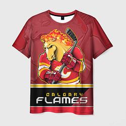 Футболка мужская Calgary Flames цвета 3D-принт — фото 1
