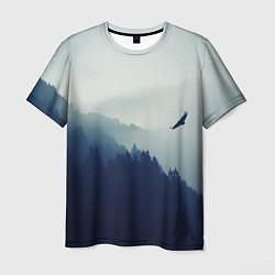 Футболка мужская Орел над Лесом цвета 3D — фото 1