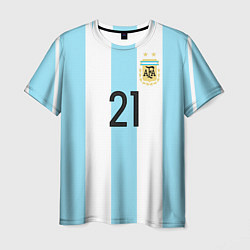 Футболка мужская Сборная Аргентины: Диабола ЧМ-2018 цвета 3D — фото 1